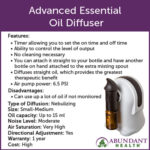 Advanced Essential Oil Diffuser Info Graphic